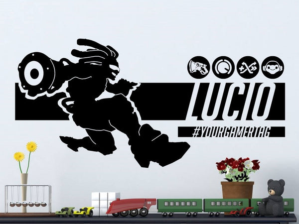 Overwatch Lucio | Personalized Vinyl Wall Decal