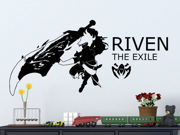 League Of Legends Riven Vinyl Wall Decal/Sticker