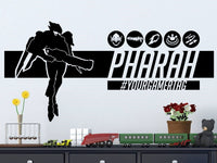Overwatch Pharah | Personalized Vinyl Wall Decal