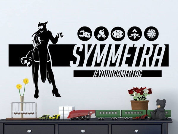 Overwatch Symmetra | Personalized Vinyl Wall Decal