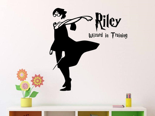 Harry Potter Wizard in Training Wall Decal | Personalized Name Vinyl Wall Decal/Sticker