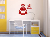 Lego Robin Personalized Vinyl Wall Decal