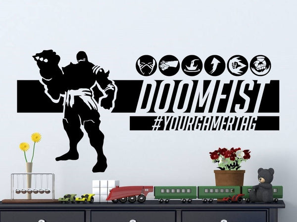Overwatch Doomfist| Personalized Vinyl Wall Decal