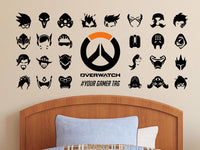 Overwatch Hero Symbols Personalized Vinyl Wall Decal/Sticker