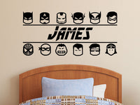 Superhero Wall Decal | Personalized Superhero Name Decal/Sticker Boys Decor
