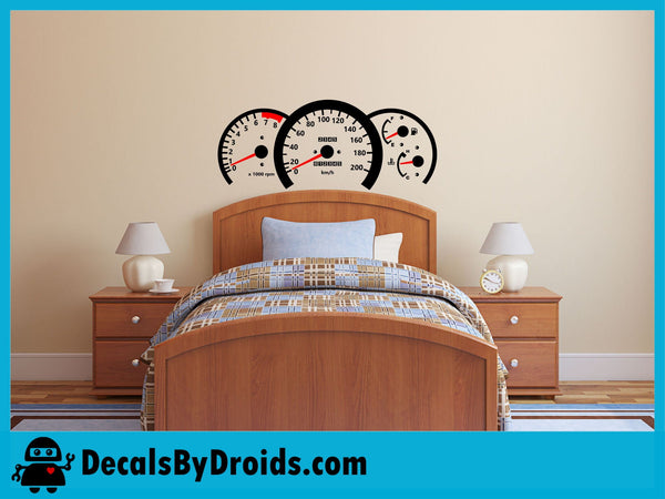 Race Car Speedometer Wall Decal for Boys Room