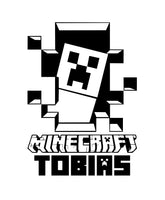 Minecraft Creeper Personalized Vinyl Wall Decal