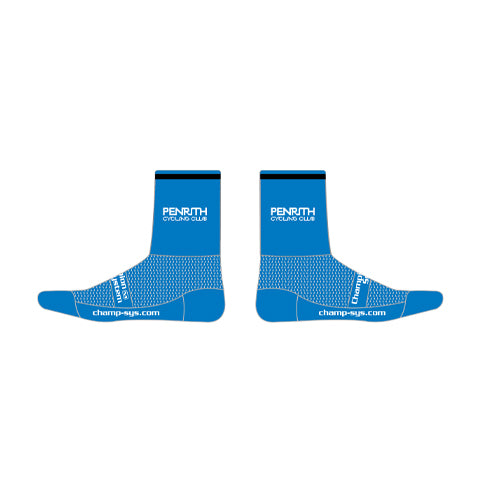 Knit  Socks (4 Inch) Black & Blue