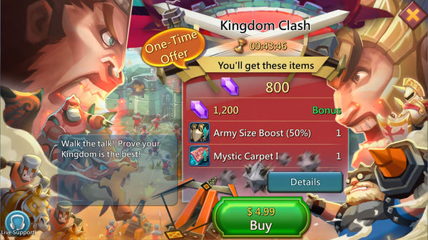 Kingdom Clash Package - 5% Discount