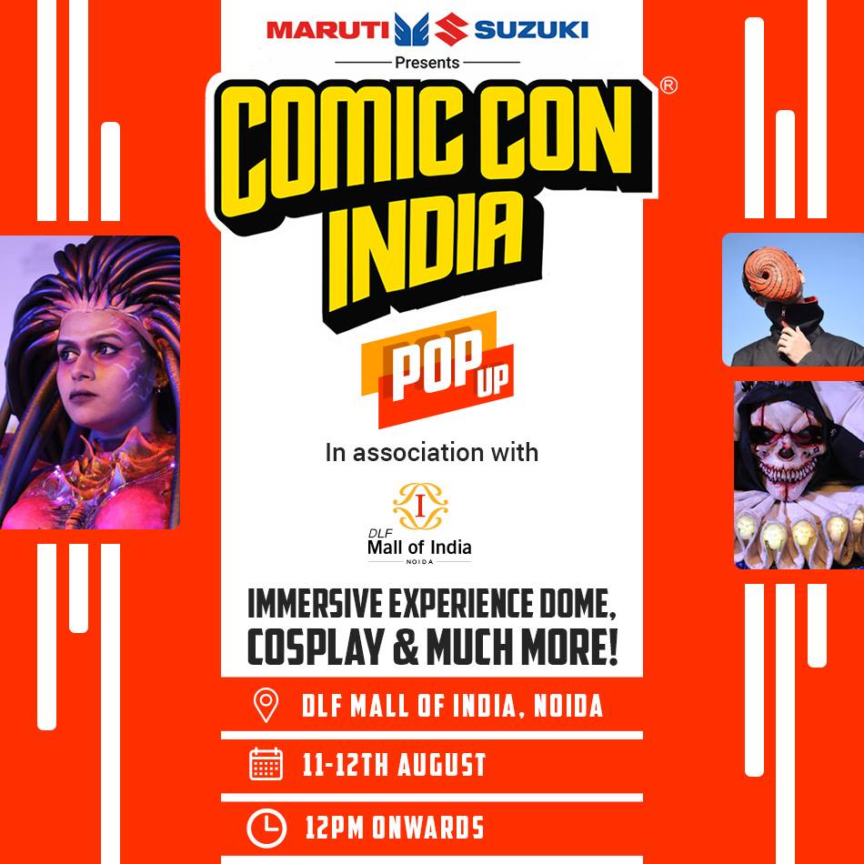 All You Need To Know About The Mini Comic Con Happening At DLF Mall Of India This Weekend.