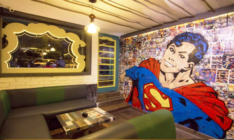 superhero cafe