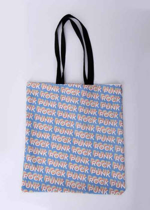 Punk Rock Pattern Tote Bag