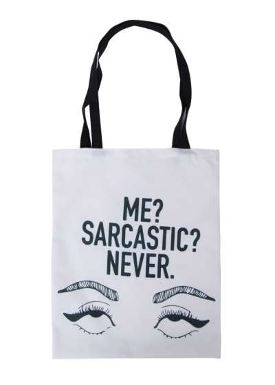 Me Sarcastic Never Vibes Tote Bag