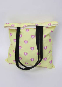 Skull Hearts Pattern Tote Bag