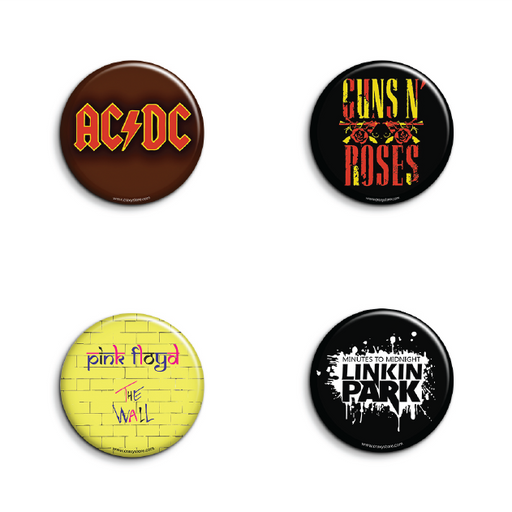 Rock Band BadgesPack of 4