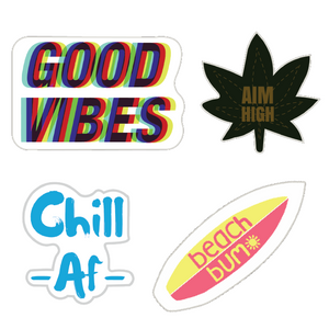Cool Sticker Combo of 4