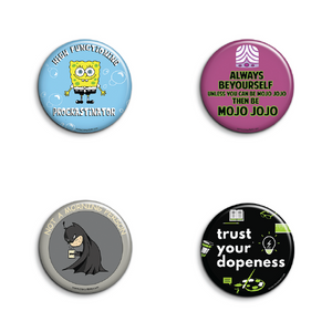 Cool Band Badges Pack of 4