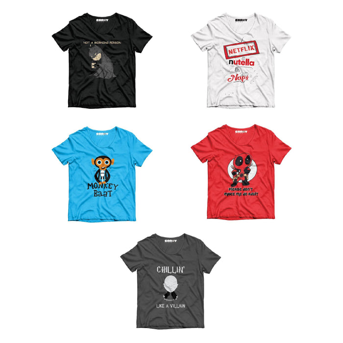 Pack Of 5 T-Shirts