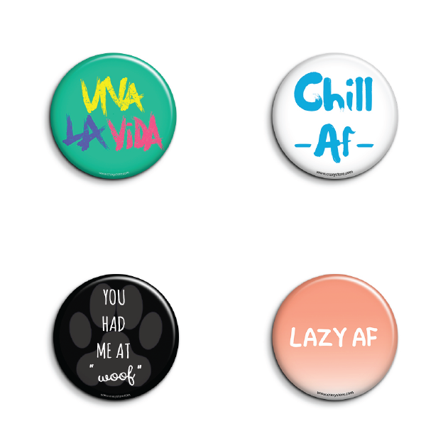 Cool Badges Pack of 4