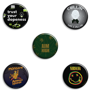 Cool Badges Pack of 5