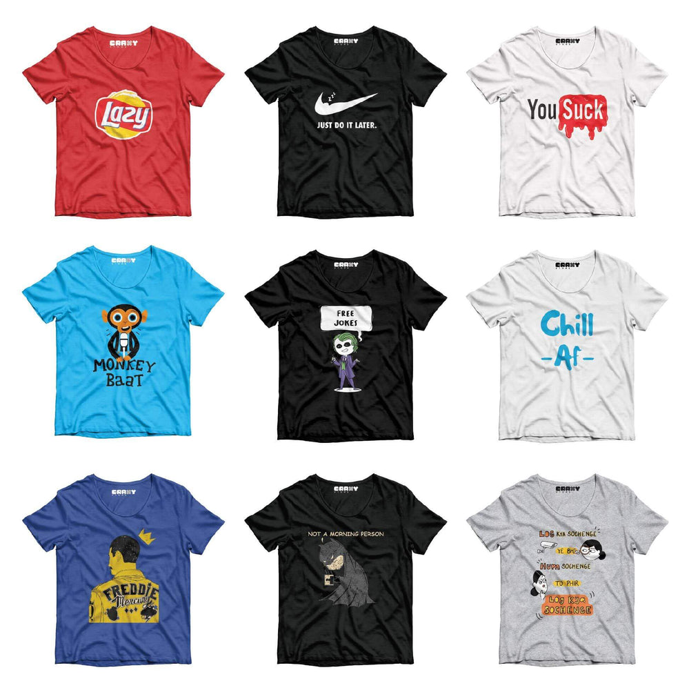 Pack Of 9 T-Shirt