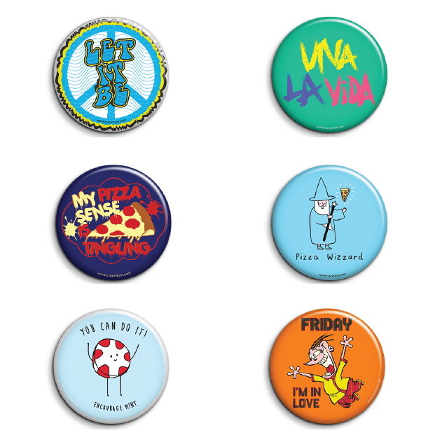 Cool Badges Pack of 6