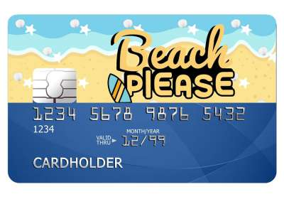 Beach Please Card Sticker