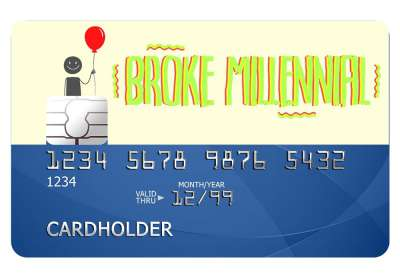 Broke Millennial Card Sticker