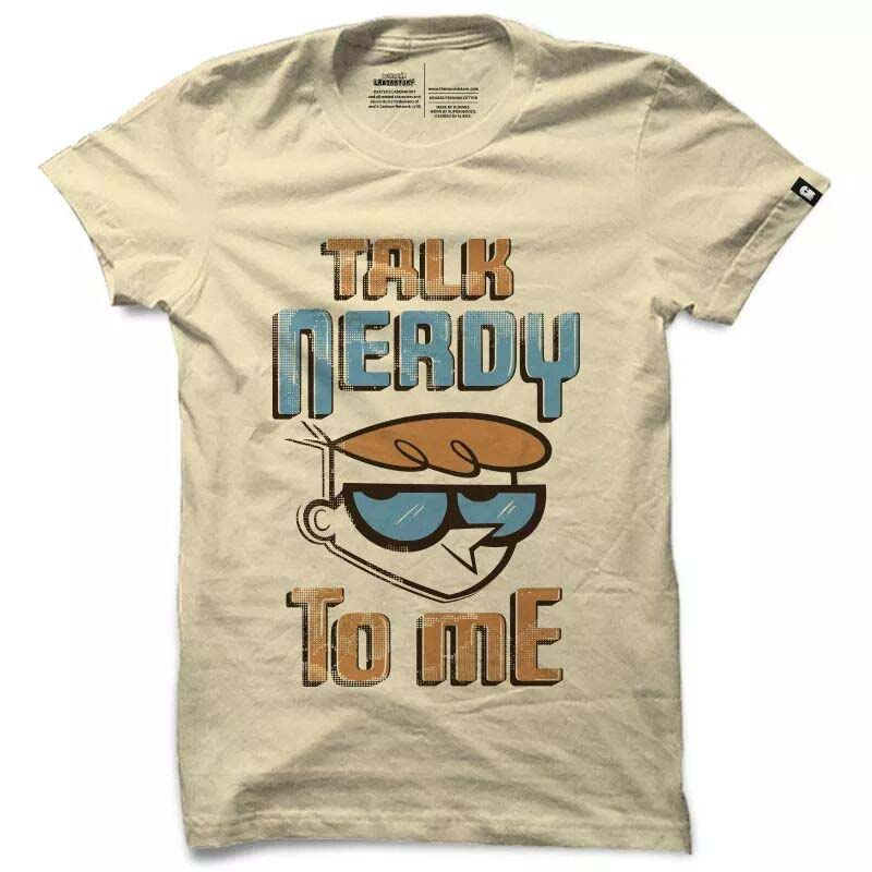 Talk Nerdy Dexter T shirt Official Cartoon Network
