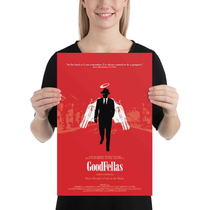 Goodfellas Movie Red Poster