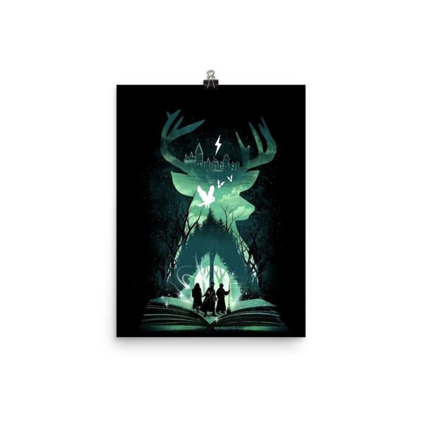Patronous Charm Stag Poster