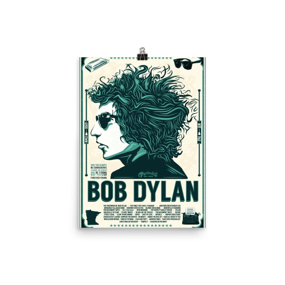 Bob Dylan Artwork Poster