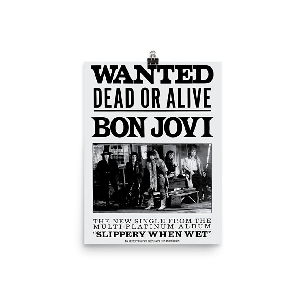 Bon Jovi Artwork Poster