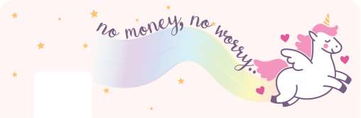 No Money No Worry Card Sticker