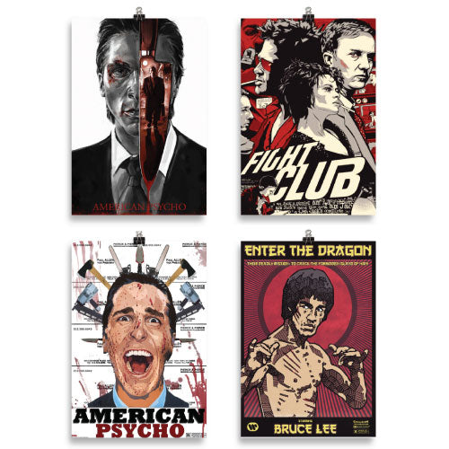 Movies Poster Bundle of 4