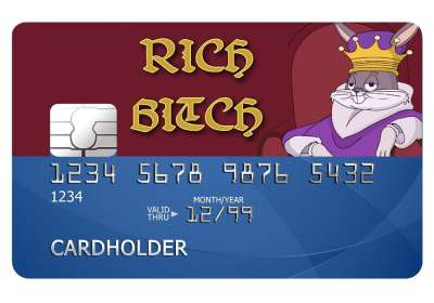 Rich Bitch Card Sticker