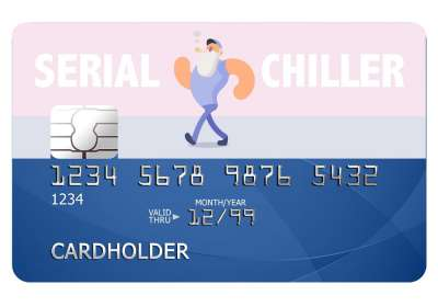 Serial Chiller Card Sticker
