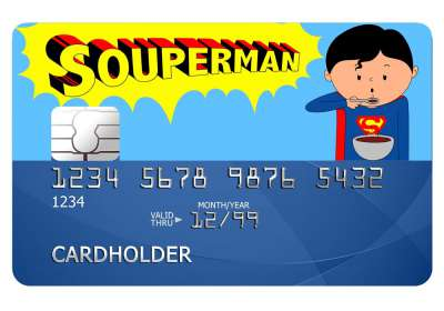 Souperman Card Sticker
