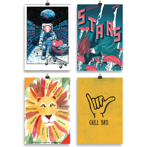 Cool Posters Bundle of 4