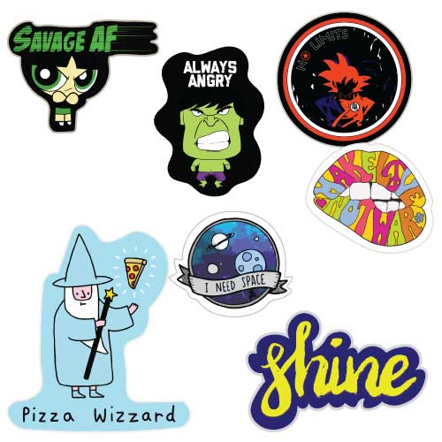 Stickers set of 7