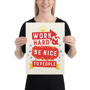 Work Hard Artwork Poster