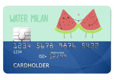 Water Milan Card Sticker