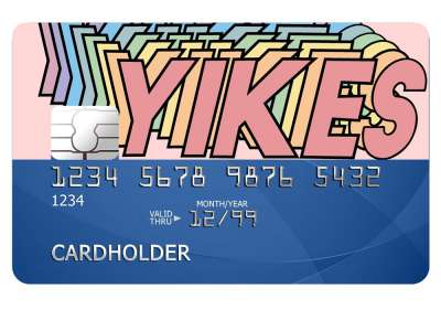 Yikes Card Sticker