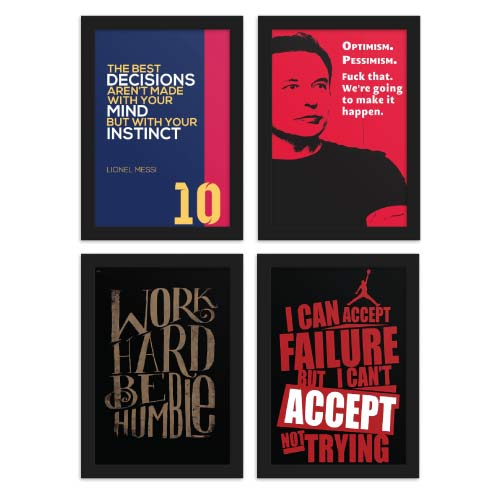 Motivational Thoughts Posters Bundle of 4