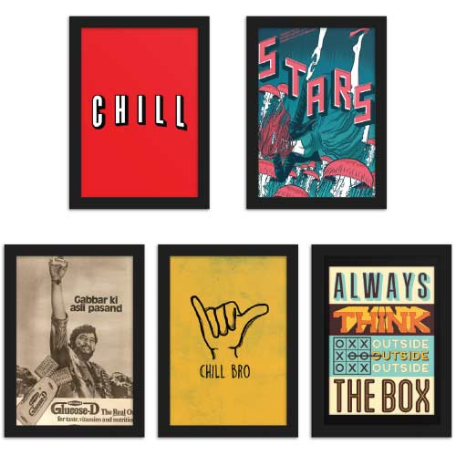 Chill Posters Bundle of 5