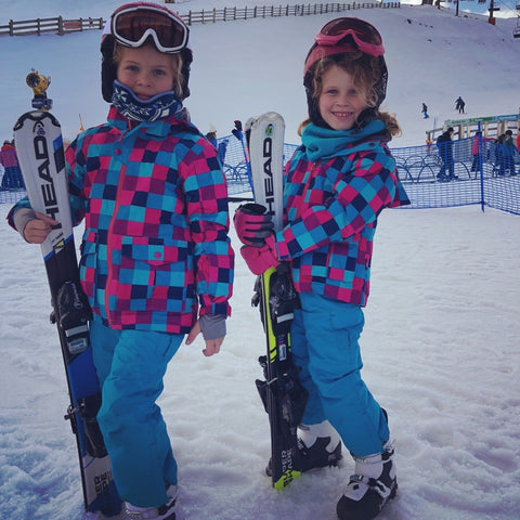 Cardone Twins on the Ski Field