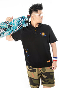 Planet Embroidery Polo Shirt - 02JL2259