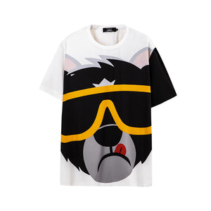 Cartoon Animal Print T-Shirt - 02JT2524