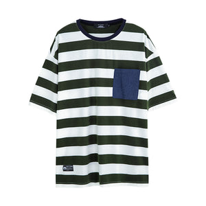 Stripe Pocket T-shirt - 02JT2785