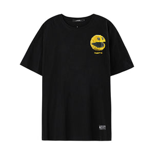Smiley Face Graphic T-Shirt - 02JT2943